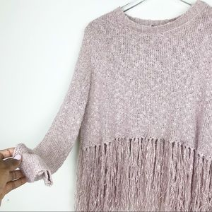 Fate Sweaters - FATE by LFD Fringed Knit Sweater